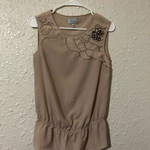 Jodi Arnold for The Limited, tan tank top. size xs